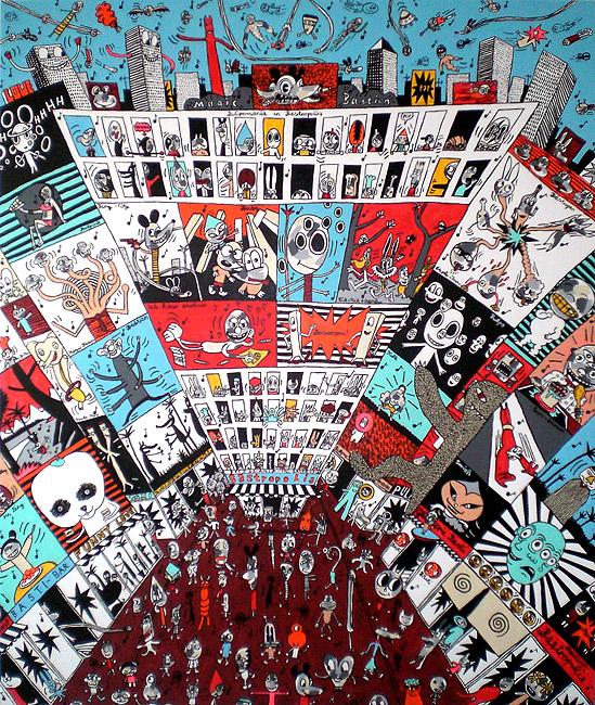 Magic Bastropolis Kunstharz auf Leinwand, 2007 190 x 160 cm