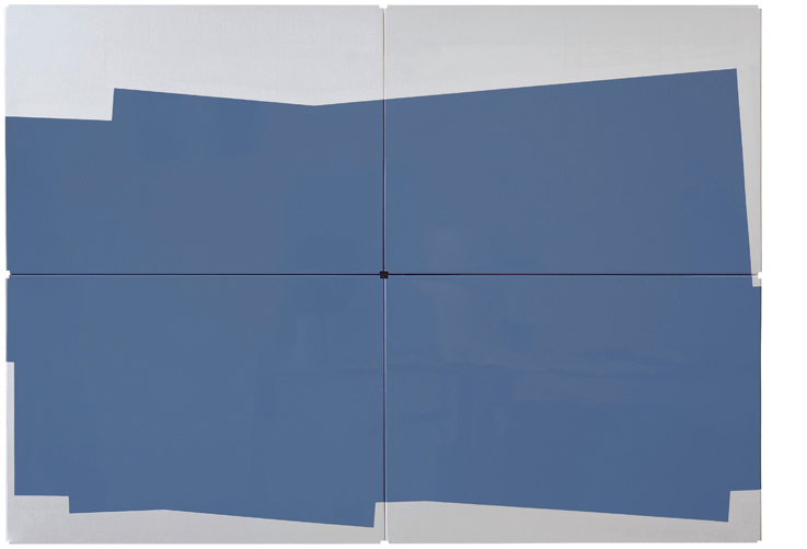 C_26.451, 2010 Lacquer on metal shelves 70 x 100 cm