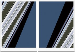 Q_46.8038, 2010, and Q_46.8037, 2010, Pigmented ink on archival paper 42 x 29,7 cm Edition of 12 + 3 EA's Dated, signed