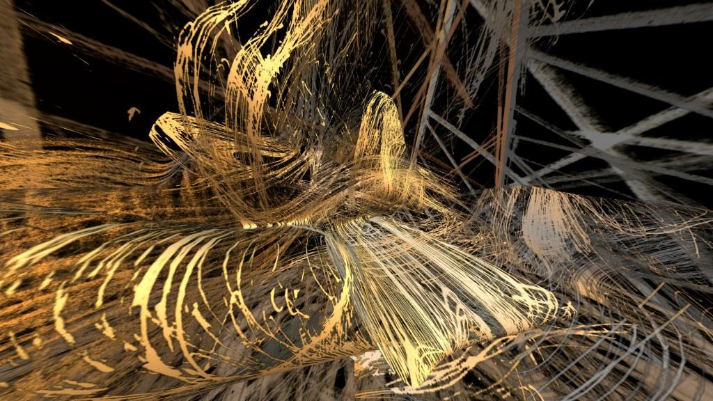 Dionysischer Raum im goldenen Lichtrausch, 2009