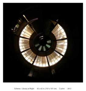 Schema - Library at Night (Small Round World)