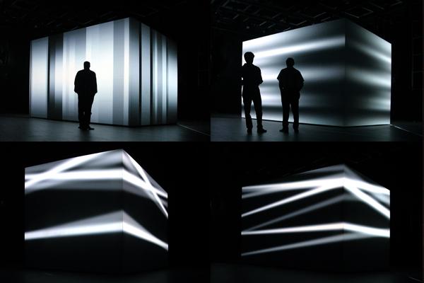 Cube, Video Installation, ZKM Karlsruhe, 2001, Foto (c) Nina Vöge