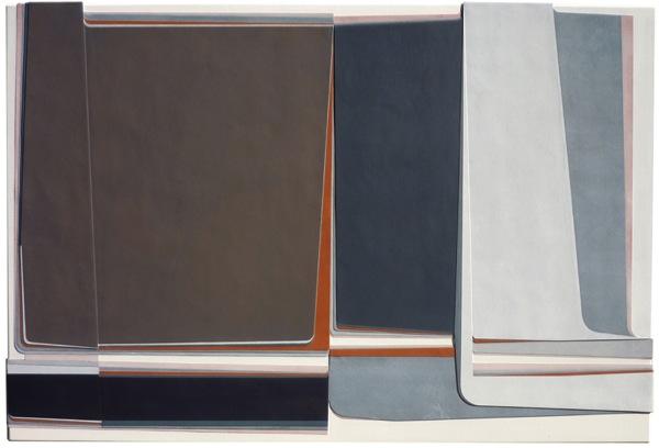 Hartmut Landauer, adyton, 2009, mixed media on canvas, 110 x 165 cm