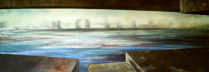 Johanna Jakowlev, Unterbrücke, 2012, 260 x 90 cm