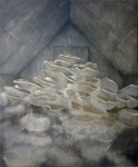 Pilzaltar, 60 x 50 cm, Acryl auf Leinwand, 2012