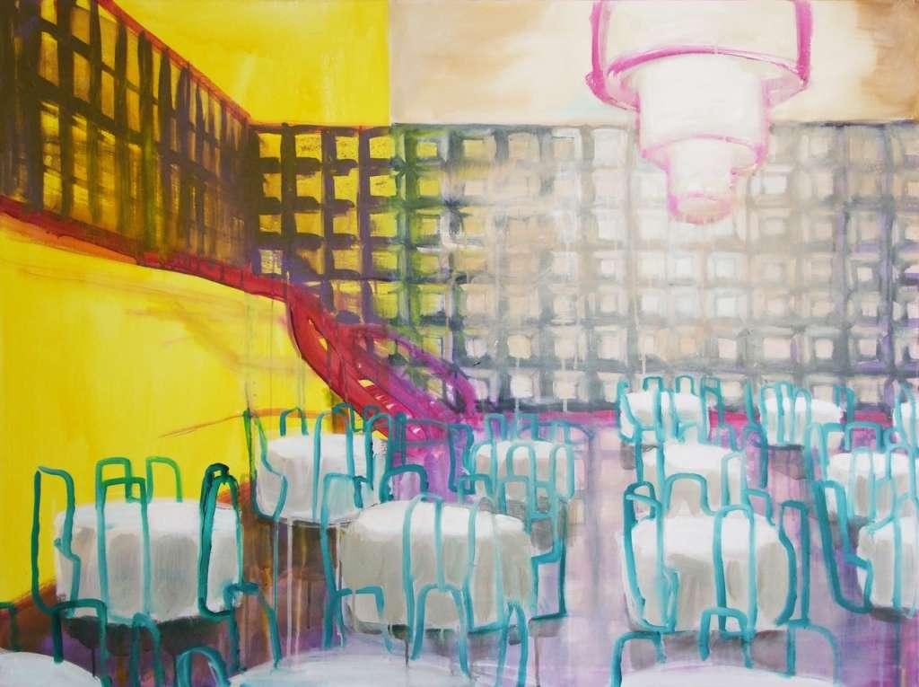 Ballroom Dining, Acryl auf Leinwand, 90 x 120 cm, 2012