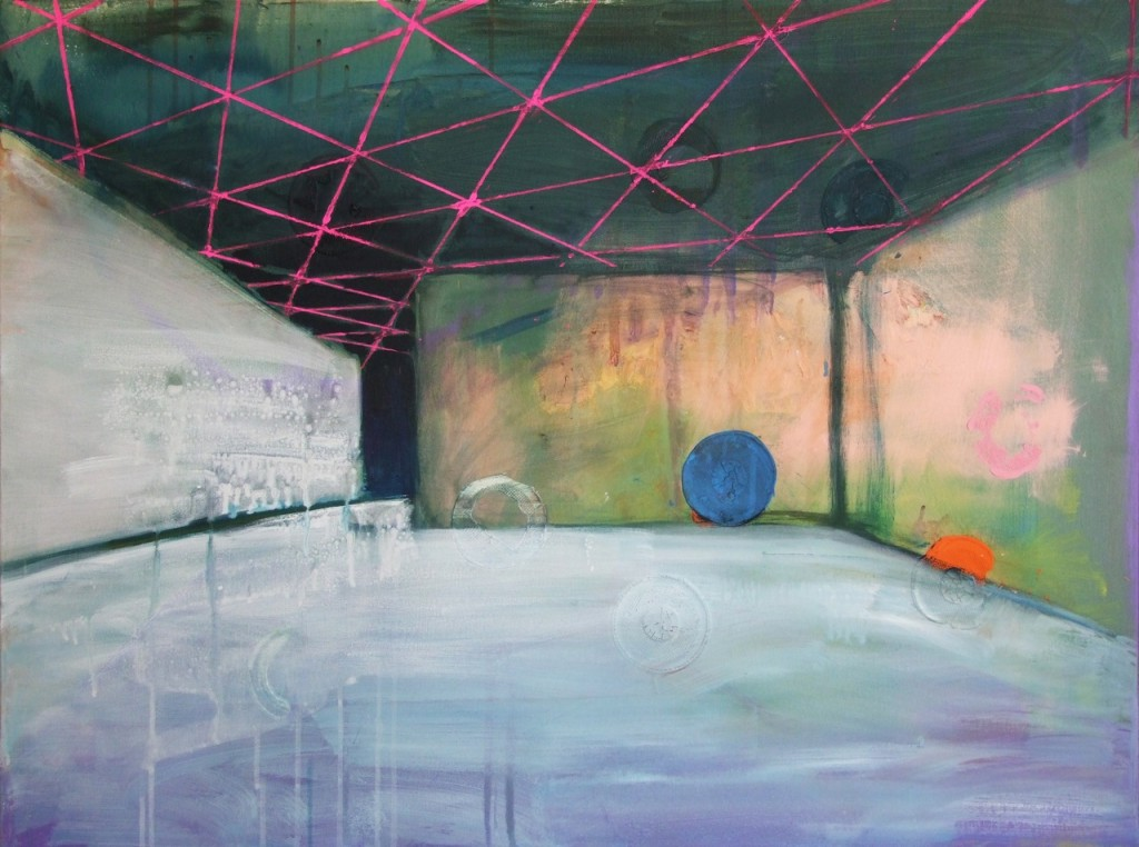 Dreieckdecke, Acryl auf Leinwand, 75 x 100 cm, 2011
