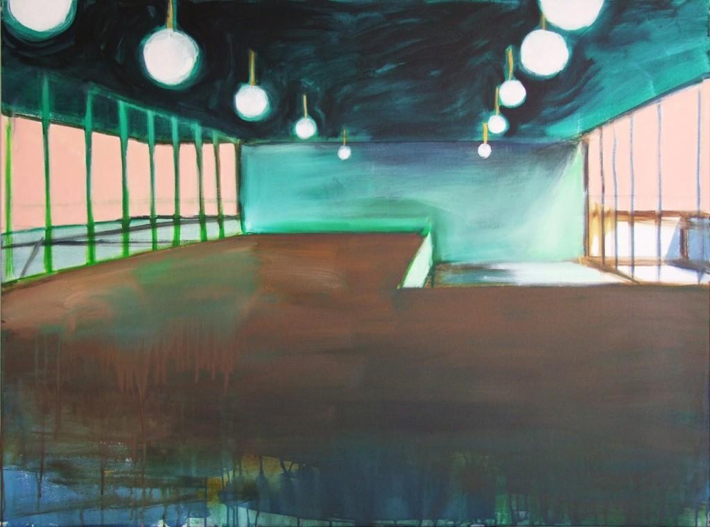 Kongresshalle, Acryl auf Leinwand, 90 x 120 cm, 2012