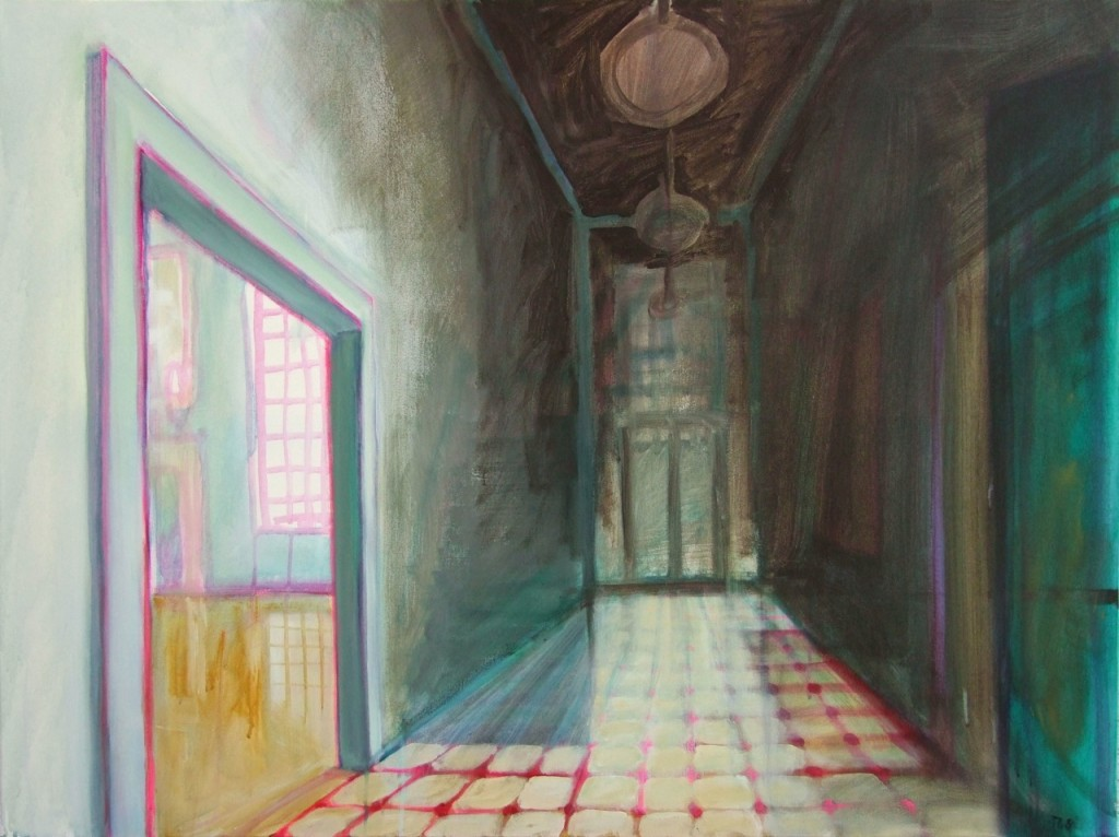The Hallway, Acryl auf Leinwand, 90 x 120 cm, 2008