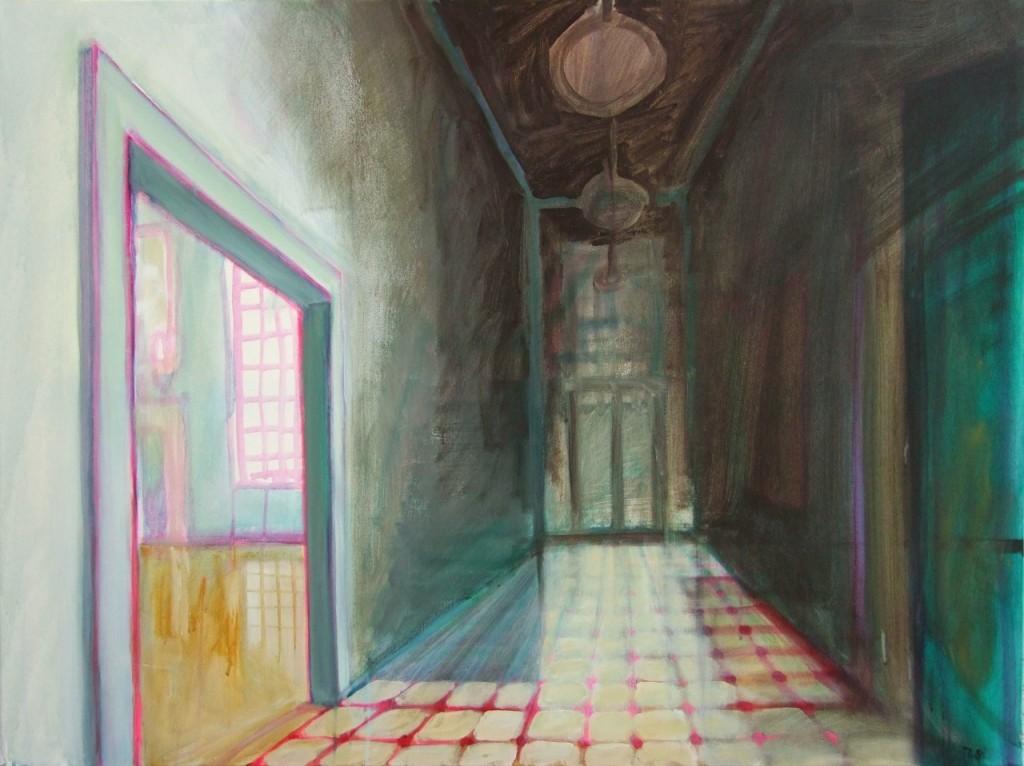 The Hallway, Acryl auf Leinwand, 90 x 120 cm, 2008