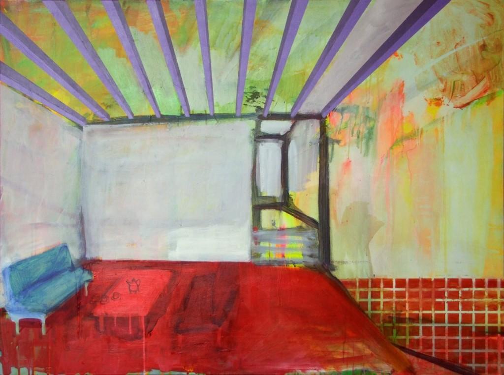 Voorkamer, Acryl auf Leinwand, 90 x 120 cm, 2011