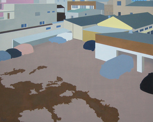 Post-urban Vision No.5, 2009, Oil on Canvas, 120 x 150 cm