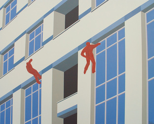 Post-urban Vision No.2, 2008, Oil on Canvas, 120 x 150 cm