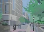 Post-urban Vision No.7, 2011, Oil on Canvas, 110 x 150 cm