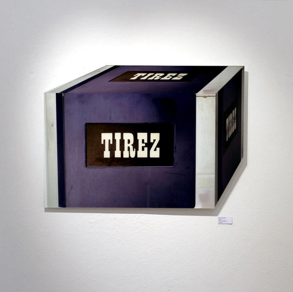 """""""Tirez"""" (Türgriff, Paris), 2012 (Ausstellungsansicht 30 Works Galerie, Köln)"""
