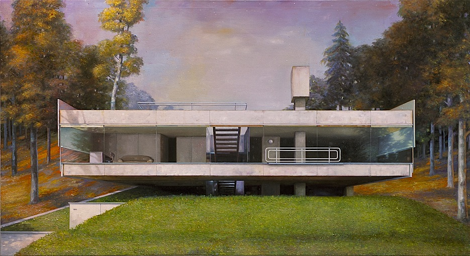modern house 5 - 120cm x 220cm - oil/canvas - 2010 -