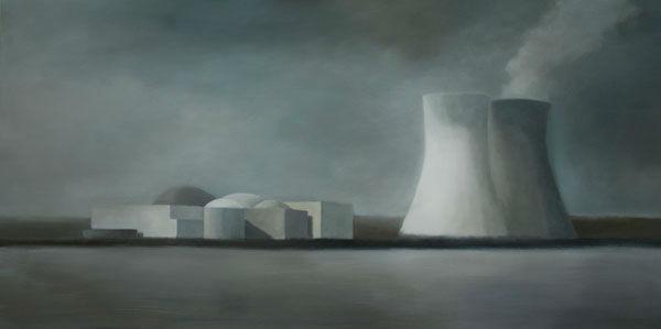 Site industriel 106 (2009, 73x146 cm, huile sur toile)