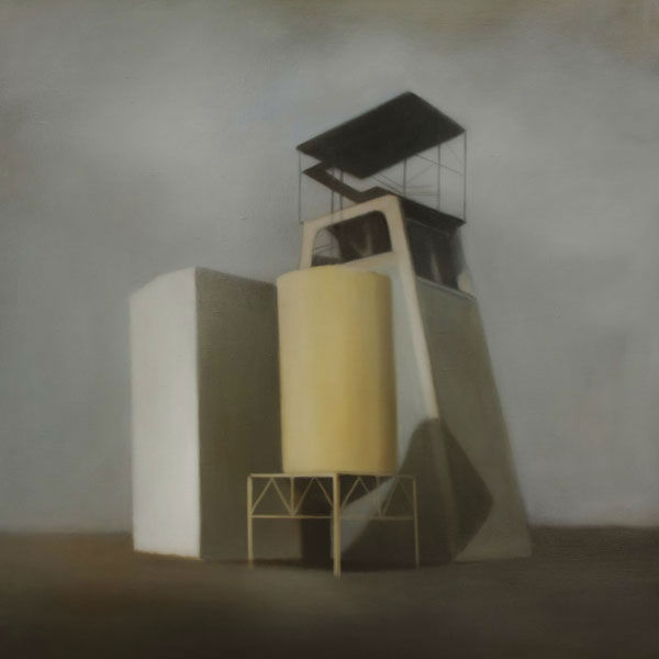 Site Industriel 180 (2012, 100x100 cm, huile sur toile)