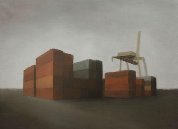 Site Industriel 181 (2012, 73x100 cm, huile sur toile)
