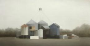 Site Industriel 153 (2011, 114x162 cm, huile sur toile)