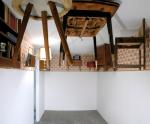 Das Mannheimer Zimmer, Kunsthalle Mannheim, 2004 gebrauchte Möbelstücke, Tapete, Echogerät, Raum 6,25 x 2,50 x 2,50 m