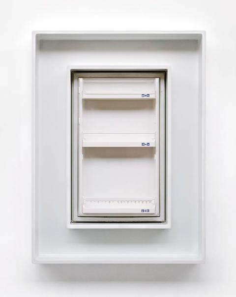 Liebherr 1, 114 x 95,3 x 17,2 cm, 2003 Kühlschranktüre, MDF hochglanzlackiert