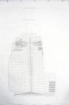A vertical city, Pigment ink on paper, 236 x 157 cm (A drawing inspired by The Shard, part of the London Bridge Quarter development, as it looked in November 2010 while under construction.)