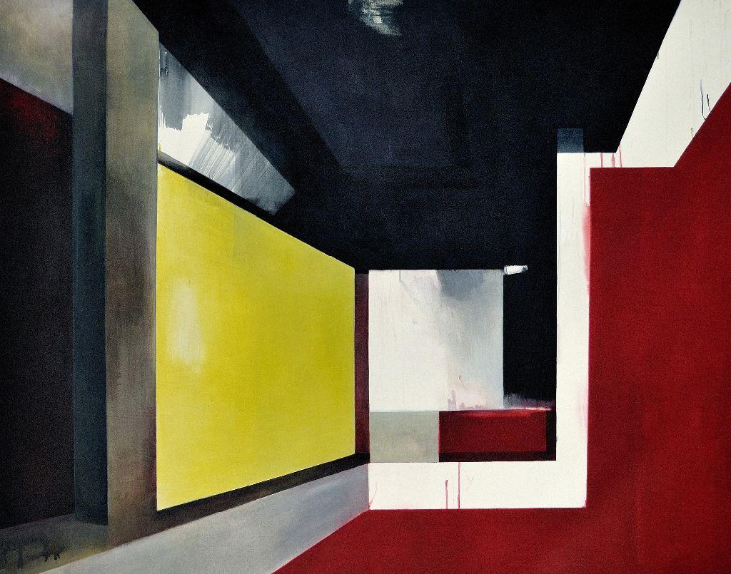 StadtHausRaum, 2008, Acryl auf Nessel, 150 x 200 cm; Foto: G. Mueller