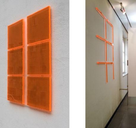 osmose, 2004-2014, Fassadeninstallation innen/außen, fluoreszierendes Plexiglas, Museum für konkrete Kunst Ingolstadt