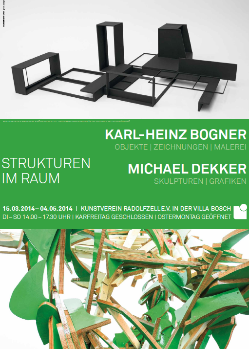 Plakat Strukturen im Raum