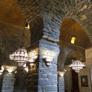 Inside Saint Mary Church of the Holy Belt, or Um al-Zinnar