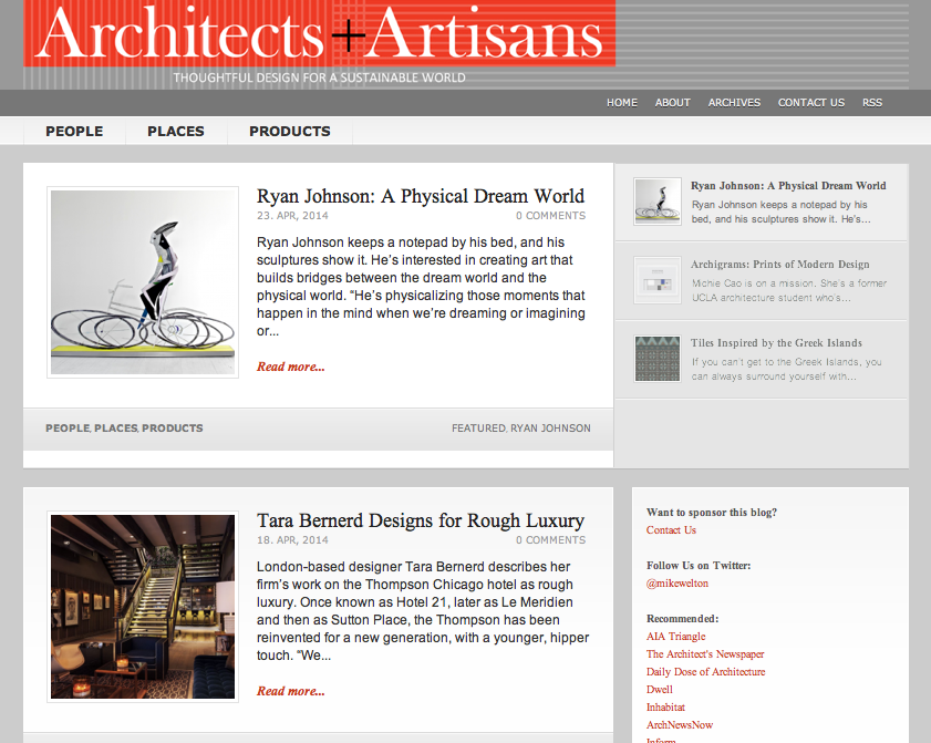 Cover Architects + Artisans