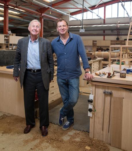 Terence Conran und Sean Sutcliffe, die beiden Gründer  von Benchmark Furniture (Bildnachweis: Angus Thomas)
