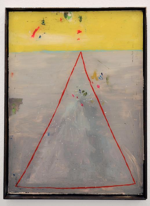o.T., 2012, Hinterglasmalerei, Metallrahmen, 40 x 25 cm