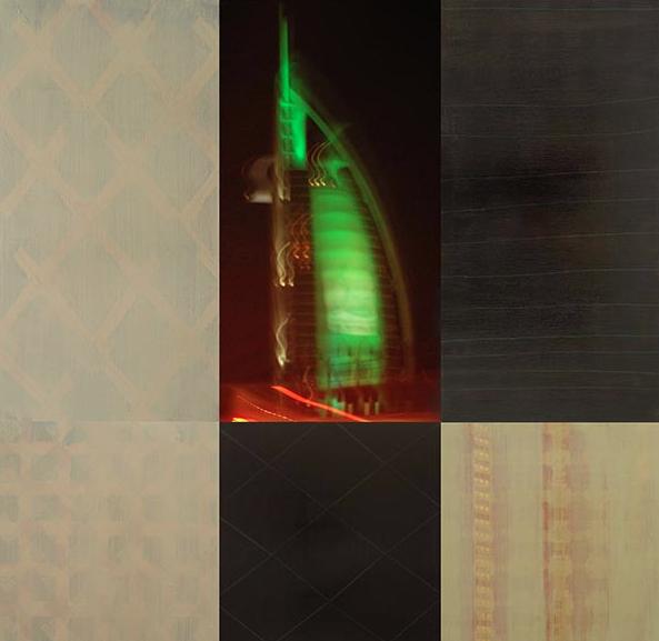 StandOrte: Dubai_240, 2009, Mischtechnik auf Holzkörper,115 x 120 cm, 6–teilig