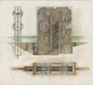 Raimund Abraham, The House without Rooms, Project, 1974 (c) 2015 Raimund Abraham