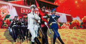 Liu Bolin: HIDING IN THE CITY - 99, THREE GODDESSES, 2013