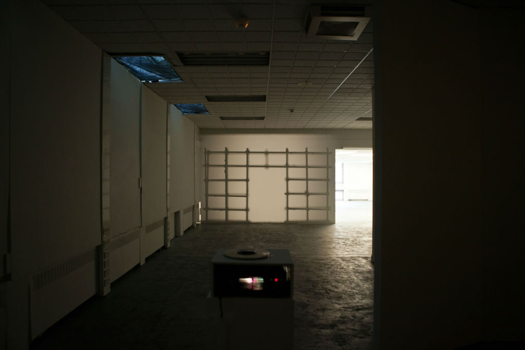Projection Installation, Interview Room, Image credit Craig Gibson 2015