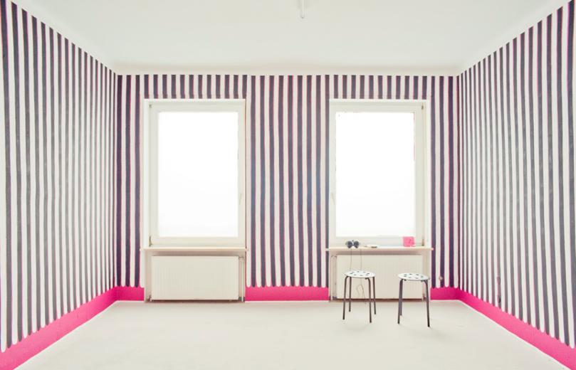 03 / Magenta Schwarz Weiss (Studio),2014  Exhibition View Krafft-Ebing-Strasse 6, Mannheim