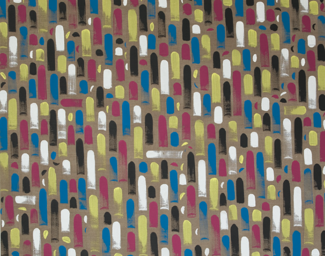 Gelb Magenta Blau Schwarz Weiss I, 2014,145 x 180 cm, Acryl auf Leinwand