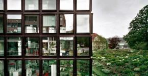 Margherita Spiluttini: Helvetia Patria, St Gallen, CH, Herzog & de Meuron. Foto 1996 © Architekturzentrum Wien, Sammlung. Courtesy die Künstlerin und Christine König Galerie 2015