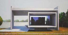 Jens Hausmann - Pavillon - 50 x 80 cm - Öl auf Leinwand - 2015
