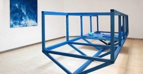 blau:Wal 2014, Installation view, Kunsthaus Galerie Erfurt, 4,40 x 1,50 x 1,30 m