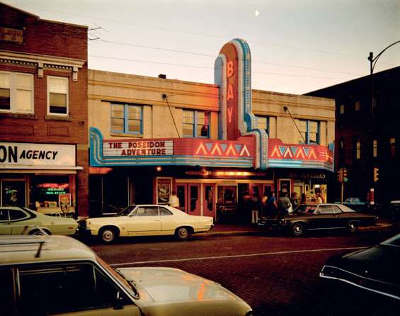 Stephen Shore: Bay Theater, Second Street, Ashland, Wisconsin, July 9, 1973