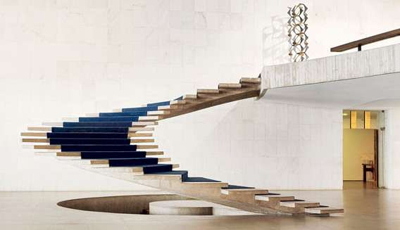 Vincent Fournier, Brasilia / The Itamaraty Palace - Foreign Relations Ministry, spiral stairs, 2012
