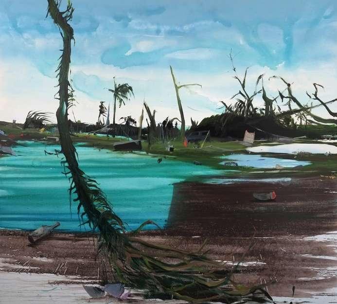 Haiyan 9, Öl, Acryl auf Leinwand, 180 x 200 cm, 2014