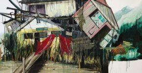 Stapel, Öl auf Leinwand, 240 x 200 cm, 2015