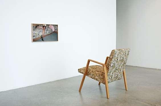 Eva Stenram Split (2016) Print: Digital print on cotton, armchair, framed C-type print on Fuji Chrystal Archive Paper