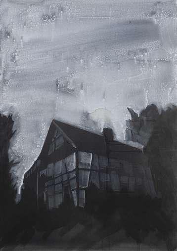 Untitled (2007), Acryl auf Nessel, 130 x 92 cm
