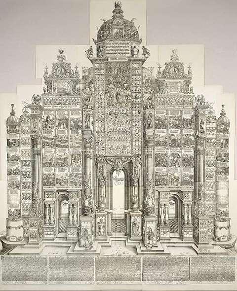 Die geplante Ehrenpforte Kaiser Maximilians I.